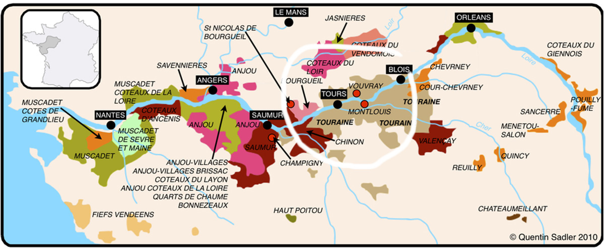 Loire valley organic wine tour